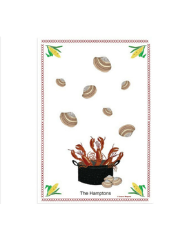 Clam Bake 18x26 Cotton Towel