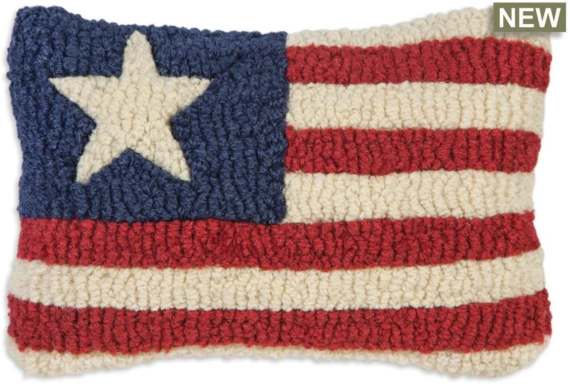 Stars and Stripes 8x12 Hooked Pillow