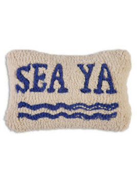 Sea Ya 8x12 Hooked Pillow