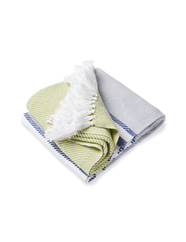Allagash Throw Dove Gray, Apple Green, Navy