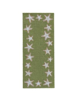 Starfish Border Green Rug 24x60