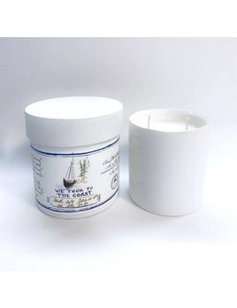 And We Danced in the Sea Glass White Coast Candle