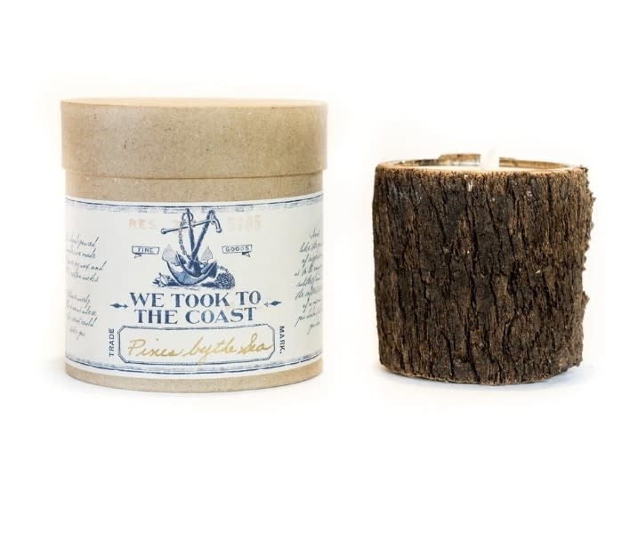 Pines by the Sea Bark Candle