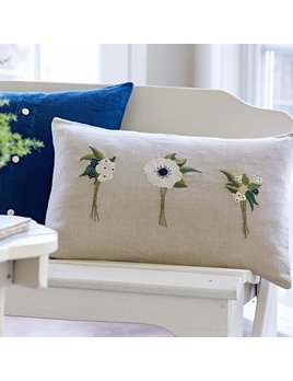 Boutonnieres Embroidered Pillow 16x24
