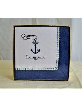 Boxed Cocktail Napkin Longport Navy