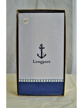 Boxed Guest Napkin Longport Anchor Navy