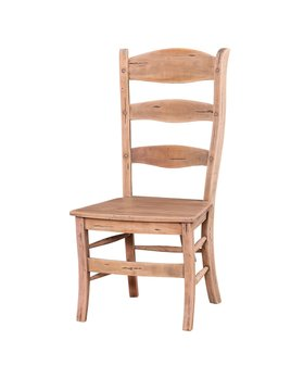 Peg & Dowel Ladder Back Chair with Wooden Seat