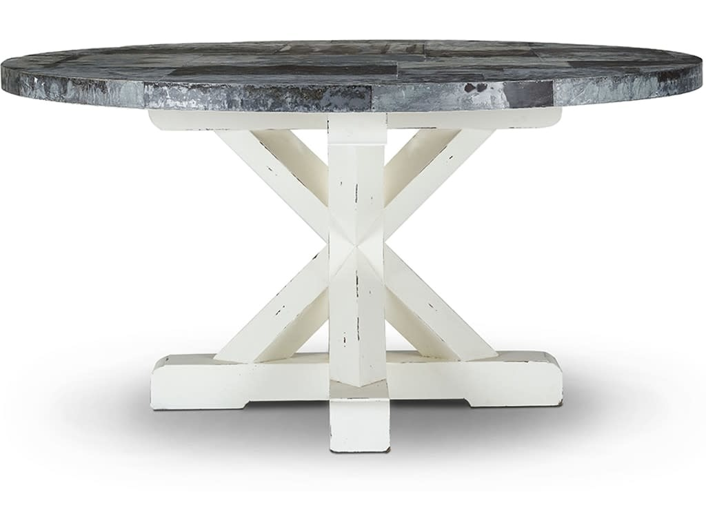 Bankside Trestle Round Dining Table