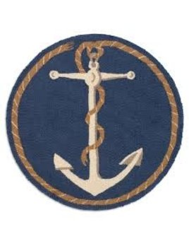 """Anchor Hooked 31"""" Round"""