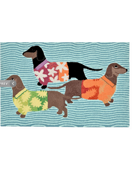 Tropical Hounds Multi-Color 24x36