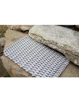 The Rope Company Fog Gray & Sand Doormat