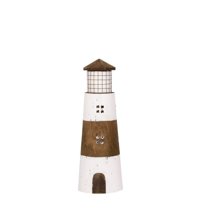 Lighthouse in Wood 10.5x31cm