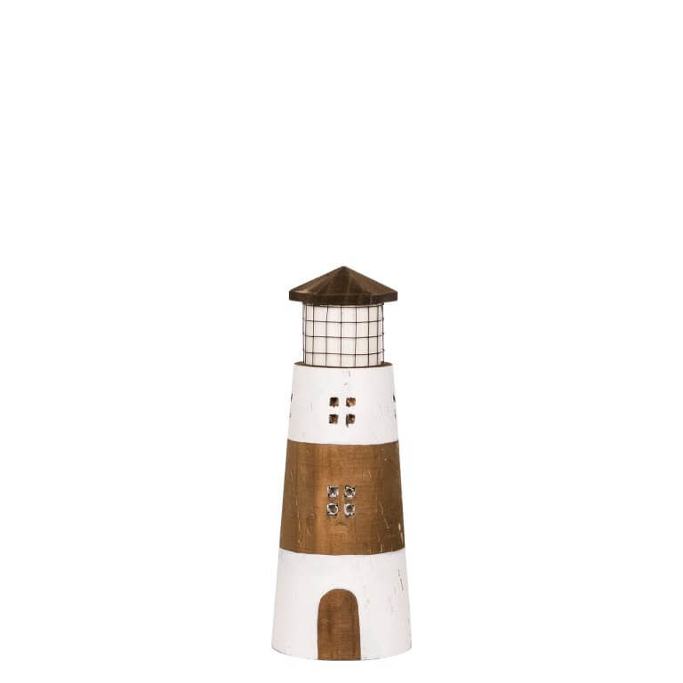 Lighthouse in Wood 9x24cm