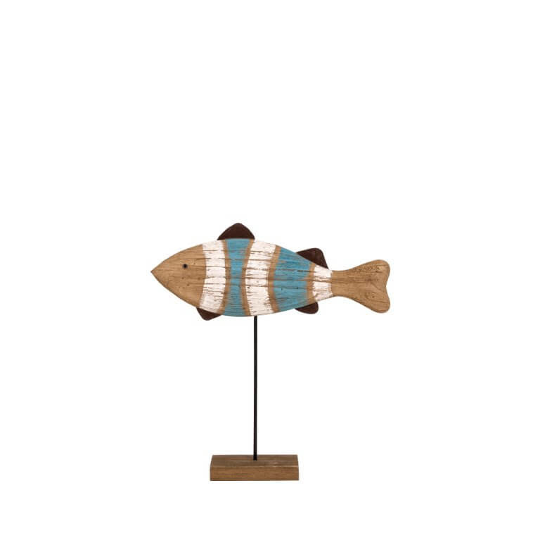 Fish in Wood with Base 33x35cm