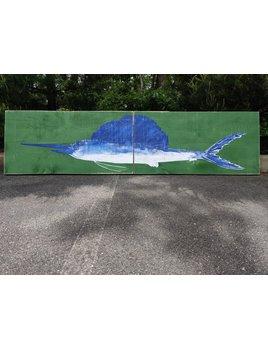 2x8 2 Panel Sail Fish batik/White/WW