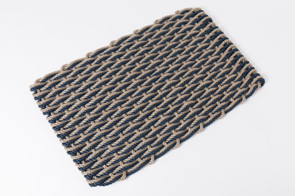 Sand & Navy Doormat