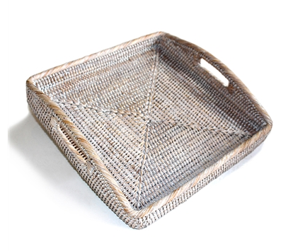 Square Morning Tray White