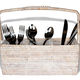 3 Compartment Cutlery Holder White