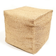 Indoor Square Cube Stool Hand Woven Water Hyacinth