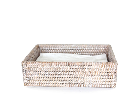 Dinner Napkin Tray White