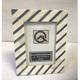 White and Blue Diagonal Stripe Frame 4x6