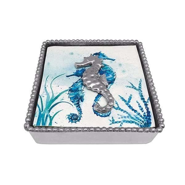 Seahorse Beaded Napkin Box