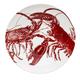 Lobster Red Wide Serving Bowl