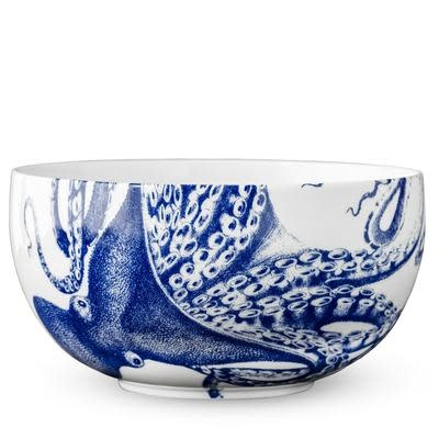 Blue Lucy Large Round Bowl