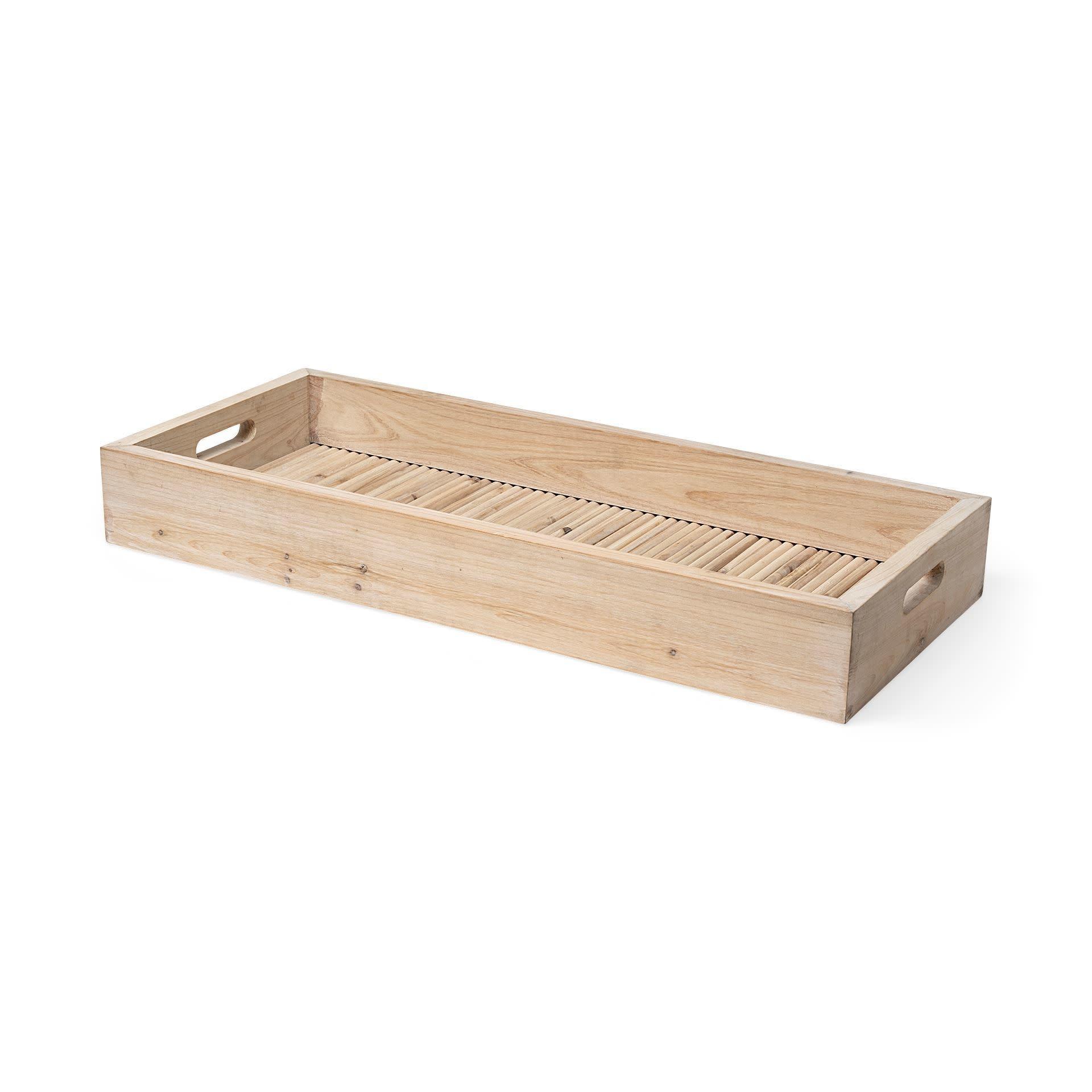 Horatio Natural Wood Rectangular Serving Tray