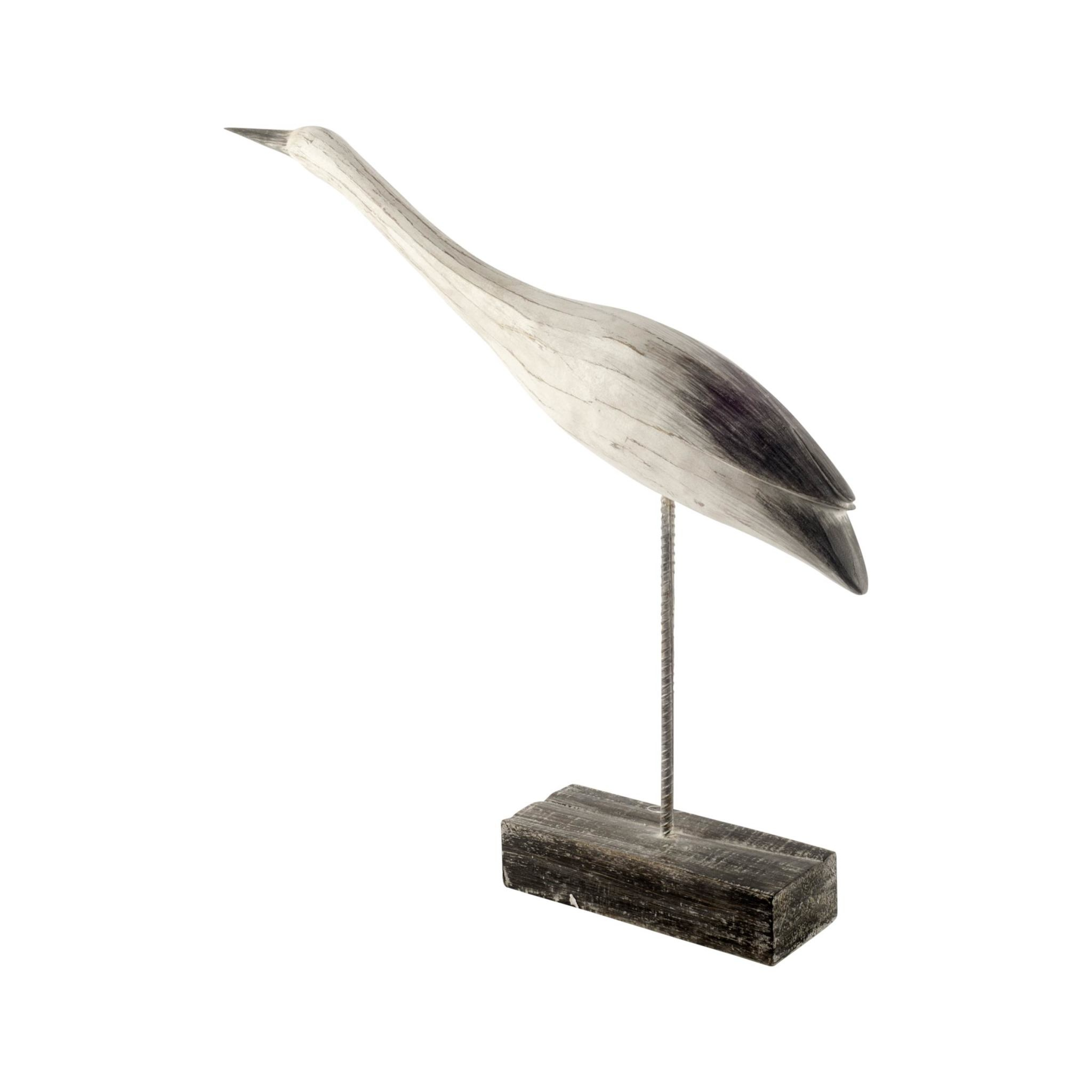 Lebrun II (Large) Off-White Resin Seashore Bird Sculpture