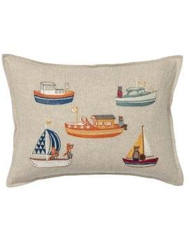 Boats Pillow 12x16