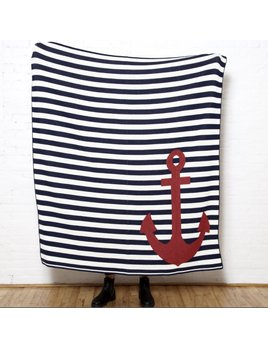 Throw Anchor French Stripe Pomegranate