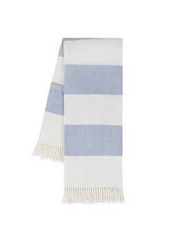 Denim Rugby Stripe Throw