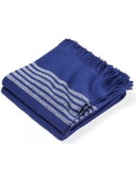 Pembroke Cotton Throw Navy