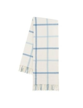 Blue Denim/ Baby Blue Tattersall Plaid Throw