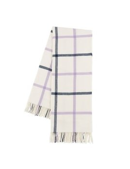 Lilac/Navy Tattersall Plaid Throw