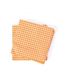 Gingham Orange Lunch Napkin