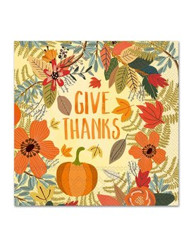 Give Thanks Floral Lunch Napkin