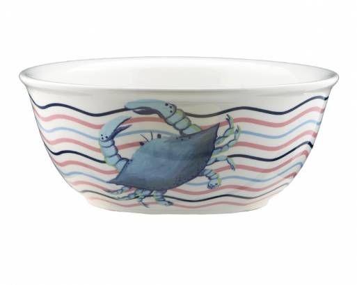 Serving Bowl: Blue Crab Wave