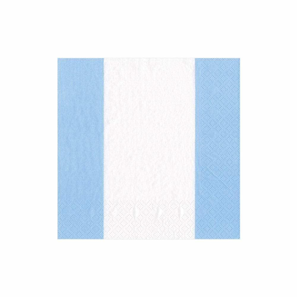 Bandol Stripe Light Blue Cocktail Napkin