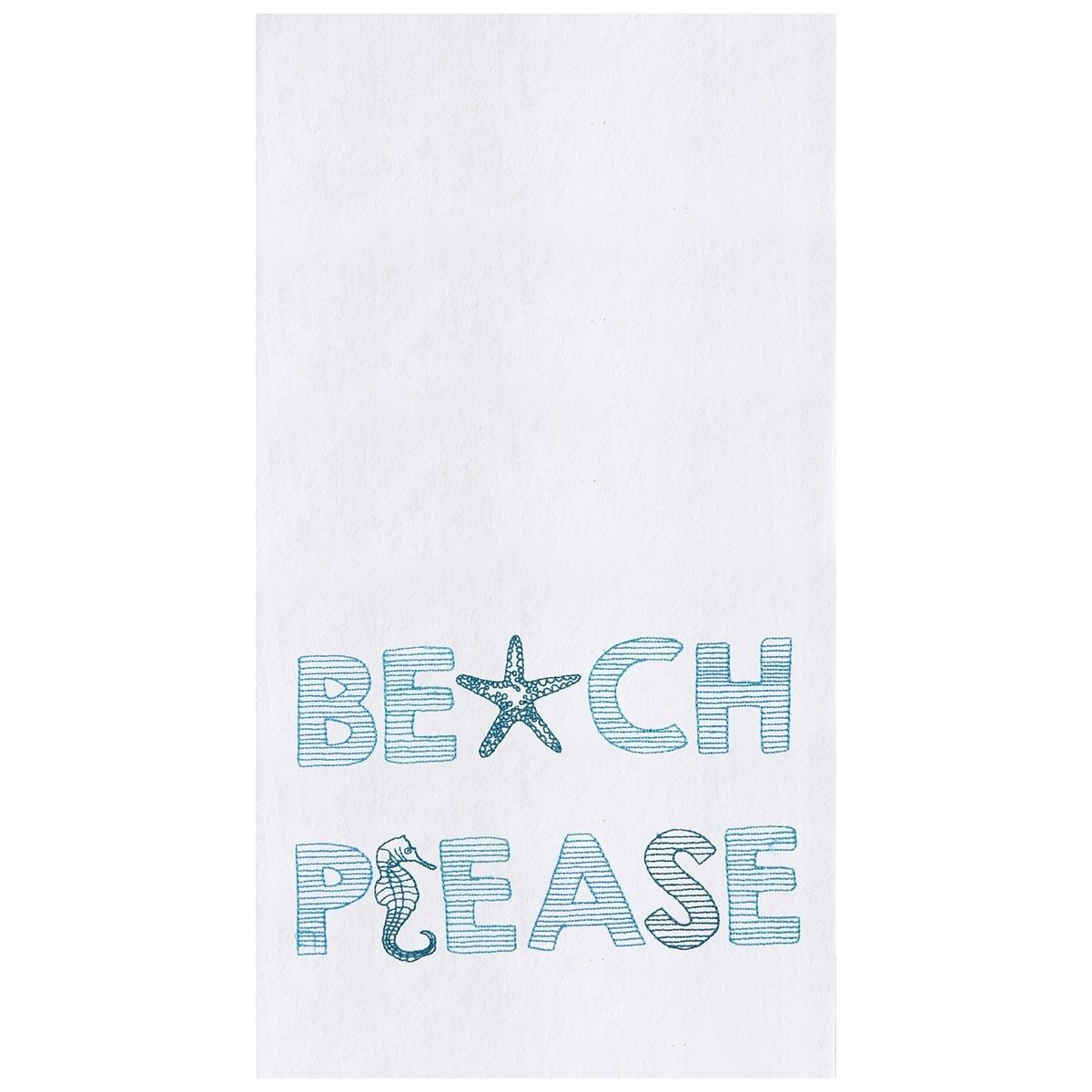 Kitchen Towel Beach Please