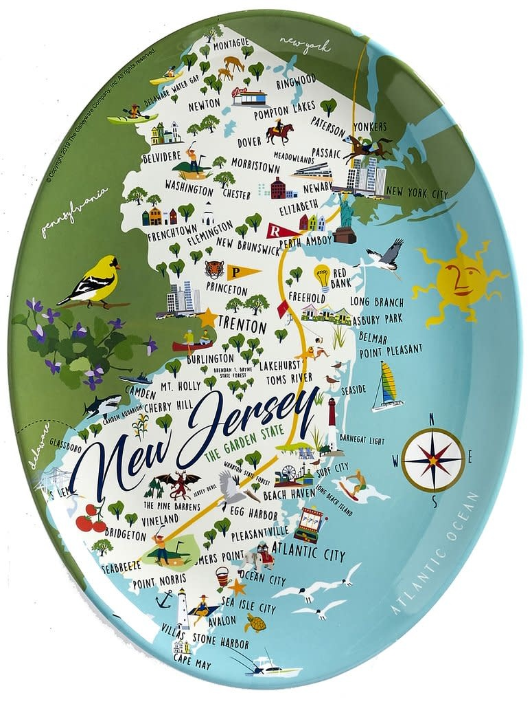 "Galleyware New Jersey 16"" Platter"