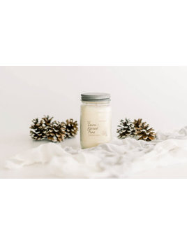 Snow-Kissed Pine Soy Candle 16oz