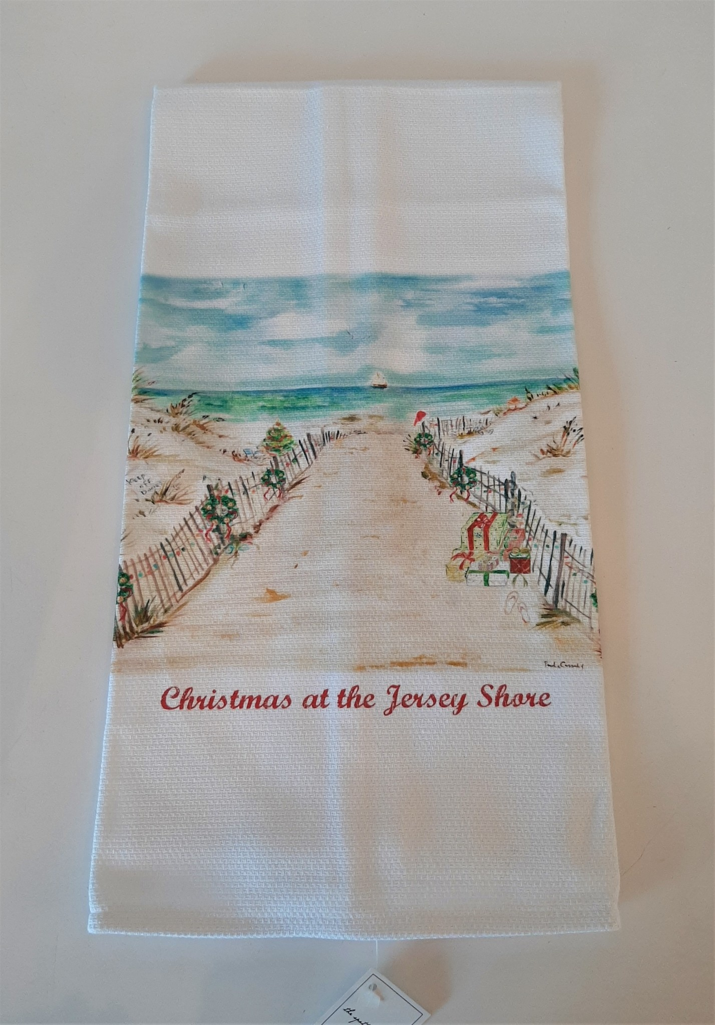 Kitchen Towel Christmas at The Jersey Shore