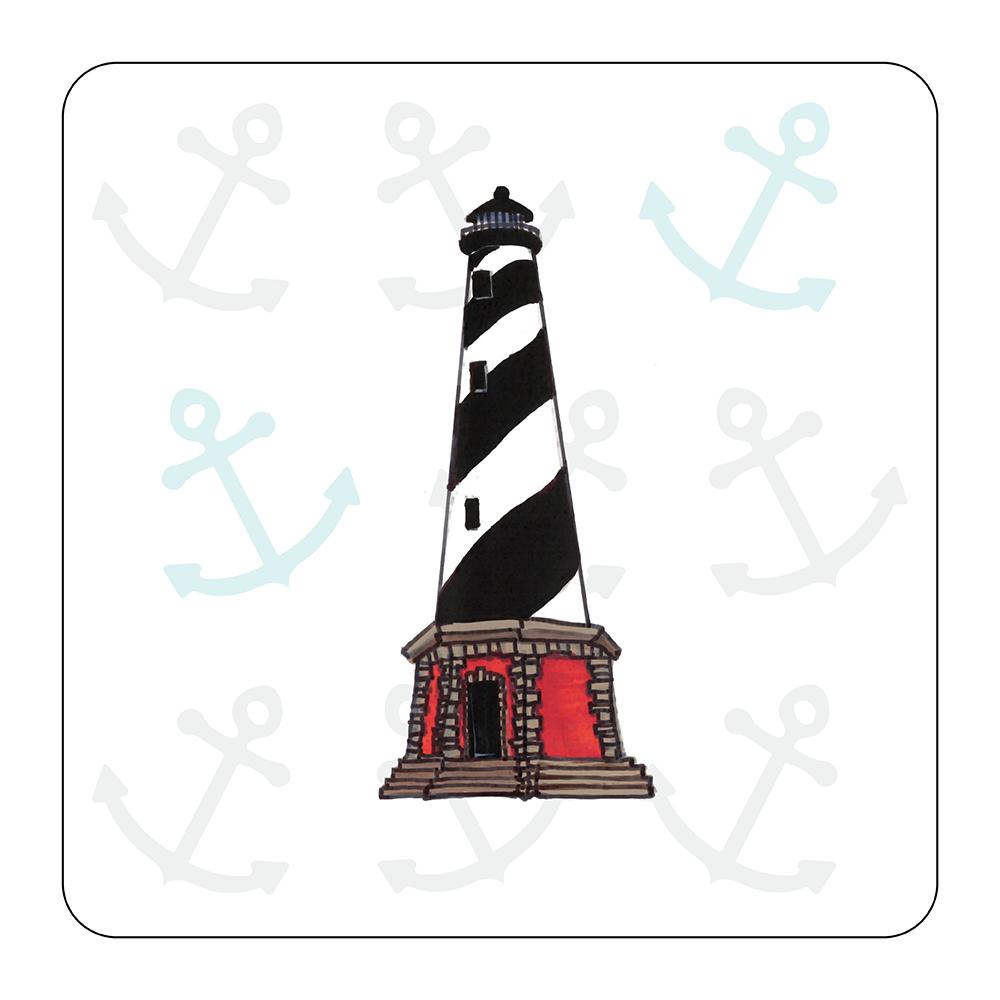 4 Piece Coaster Set - Lighthouse Outer Banks