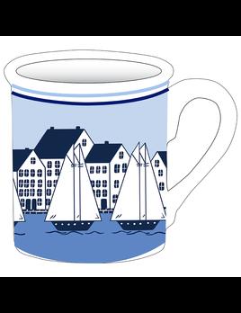 Sailboat Village Mug