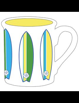 """4.25"""" Mug - Surfboard"""