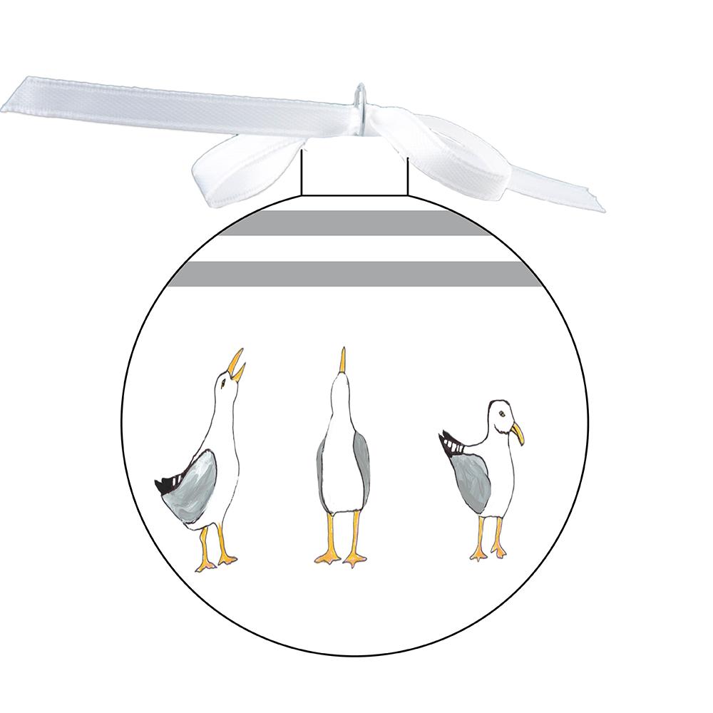 80mm Ornament - Seagulls