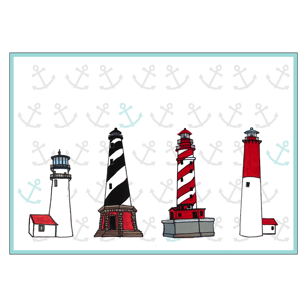 4 Piece Placemat Set - Lighthouses