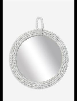 Aspen Round Mirror White